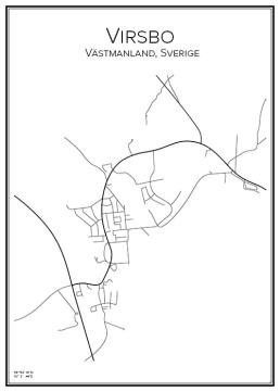Stadskarta över Virsbo