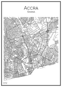 Stadskarta över Accra