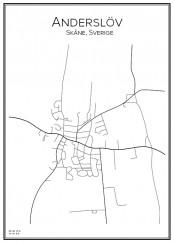 Stadskarta över Anderslöv
