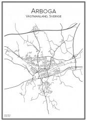 Stadskarta över Arboga