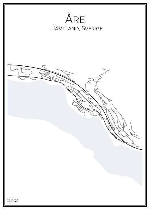 Stadskarta över Åre