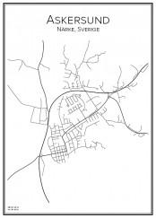 Stadskarta över Askersund