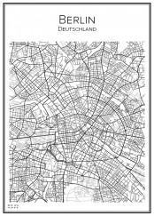 Stadskarta över Berlin