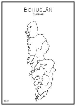 Stadskarta över Bohuslän