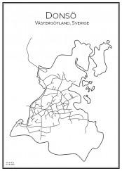 Stadskarta över Donsö