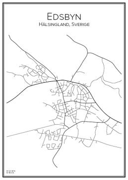 Stadskarta över Edsbyn
