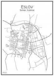 Stadskarta över Eslöv