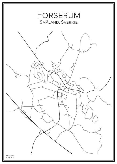 Stadskarta över Forserum