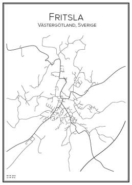 Stadskarta över Fritsla