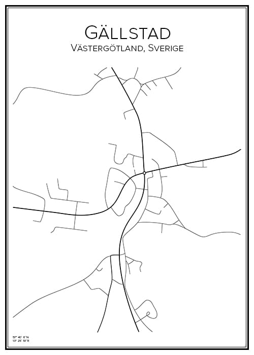 Stadskarta över Gällstad