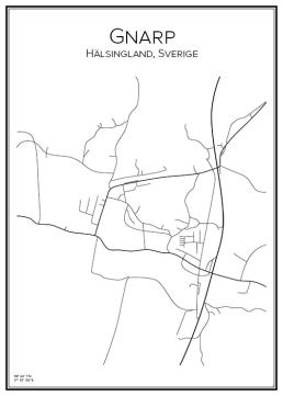 Stadskarta över Gnarp