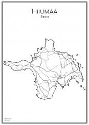Stadskarta över Hiiumaa