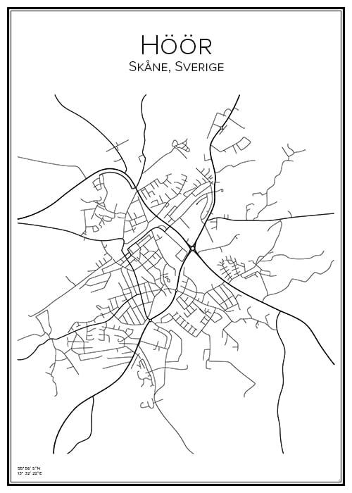 Stadskarta över Höör