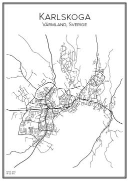 Stadskarta över Karlskoga
