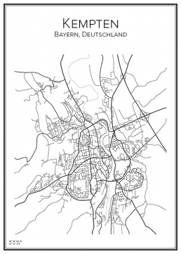 Stadskarta över Kempten