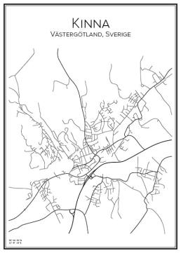 Stadskarta över Kinna