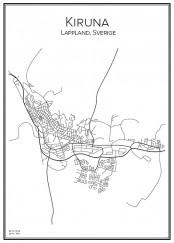 Stadskarta över Kiruna