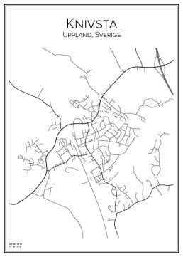 Stadskarta över Knivsta