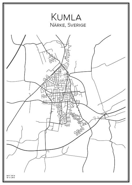 Stadskarta över Kumla