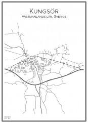 Stadskarta över Kungsör