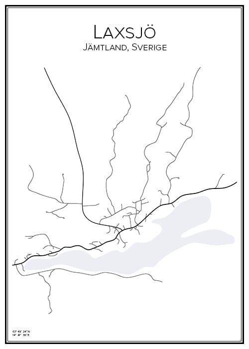 Stadskarta över Laxsjö