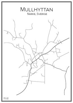Stadskarta över Mullhyttan