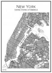 Stadskarta över New York