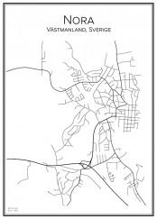 Stadskarta över Nora