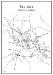 Stadskarta över Nybro