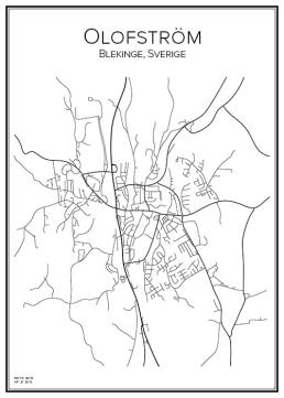 Stadskarta över Olofström