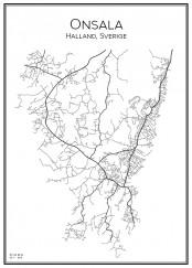 Stadskarta över Onsala