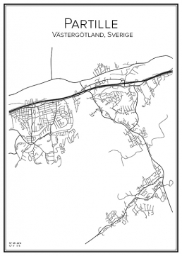Stadskarta över Partille