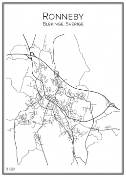 Stadskarta över Ronneby