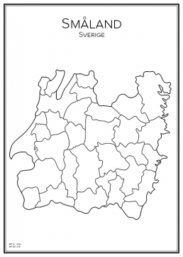 Stadskarta över Småland