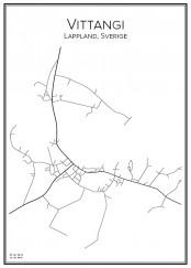 Stadskarta över Vittangi
