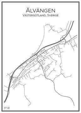 Stadskarta över Älvängen