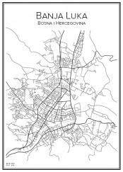 Stadskarta över Banja Luka