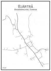 Stadskarta över Bjärtrå