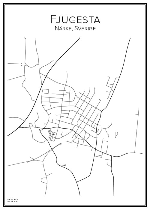 Stadskarta över Fjugesta