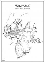 Stadskarta över Hammarö