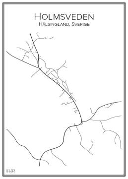 Stadskarta över Holmsveden