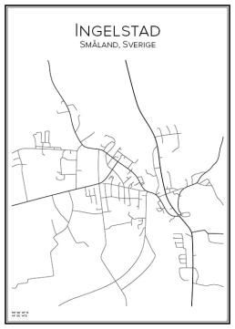 Stadskarta över Ingelstad