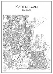 Stadskarta över Köpenhamn
