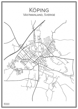 Stadskarta över Köping