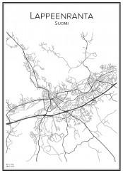Stadskarta över Lappeenranta