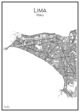 Stadskarta över Lima