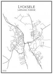 Stadskarta över Lycksele