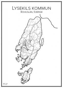 Stadskarta över Lysekils kommun