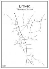 Stadskarta över Lysvik