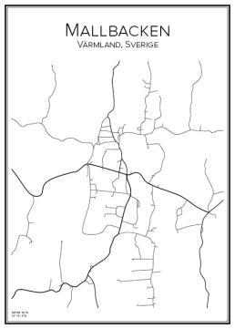 Stadskarta över Mallbacken
